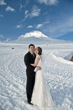Winter wedding in the snow Royalty Free Stock Photos