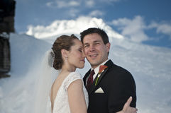 Winter wedding in the snow Stock Photo