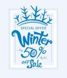Winter 50% weg vom Verkauf Lizenzfreies Stockfoto