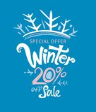 Winter 20% weg vom Verkauf Stockfotografie