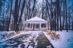 Winter-Weiß-Nische Stockfoto