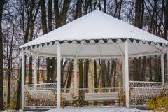 Winter-Weiß-Nische Stockfotos