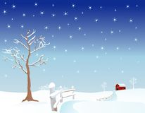 Winter-Weide Stockfoto