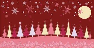 Winter-Weihnachtslandschaft lizenzfreie abbildung