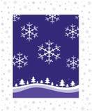 Winter-Weihnachtslandschaft Stockbild