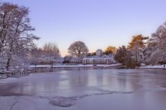 Winter-Westpark Stockfotos