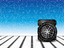 Winter wheels Stock Images
