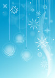 Winter whirlwind snowflakes. Blue winter background with whirlwind ice crystals and snowflakes Stock Photography