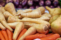Winter white radish and carrots Royalty Free Stock Photography