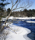 Winter white water Blakney Ontario Canada Royalty Free Stock Photography