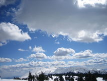Winter white. Winter sky, 2000 meters above sea level, with a rich in nature Royalty Free Stock Images