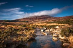 Winter in Wicklow mountains. Wicklow Mountains, Co. Wicklow Republic of Ireland Stock Photography