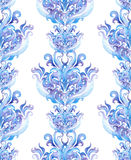 Winter wiederholend, fassen Sie Rahmen, Aquarell Ornamentalstreifen ein Lizenzfreie Abbildung