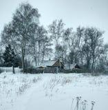 winter wiejski krajobraz Zdjęcie Royalty Free