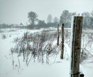 winter wiejski krajobraz Zdjęcia Stock