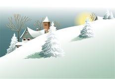 winter wiejski krajobraz Zdjęcia Royalty Free