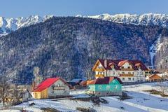 winter wiejski krajobraz Obraz Royalty Free