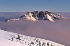 Winter wiev of Bobrowiec peak. Tatra mountain Royalty Free Stock Image