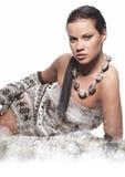Winter wild woman Royalty Free Stock Image