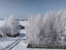 Winter willage Stock Image