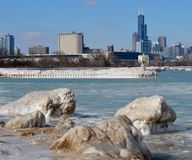 Winter Willis Tower Stockbilder