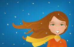 Winter wind blown Stock Photos