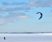 Winter Wind Surfing Stock Photo
