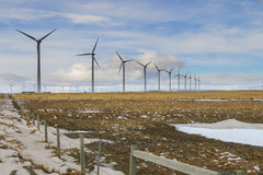 Winter Windfarm Royalty Free Stock Photos