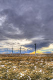 Winter Windfarm Stock Images