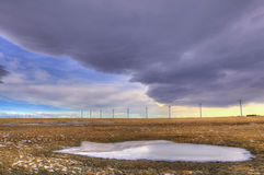 Winter Windfarm Royalty Free Stock Image