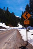 Winter Winding Road Stock Images