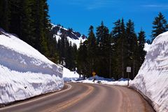 Winter Winding Road Royalty Free Stock Image
