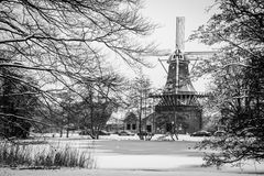 Winter Windmill Royalty Free Stock Images