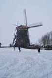 Winter windmill Stock Image