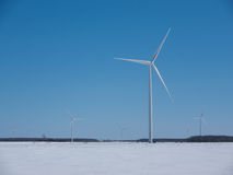 Winter Windmills Stock Images