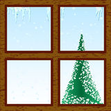Winter through window Royalty Free Stock Images