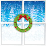 Winter through a window Royalty Free Stock Photography