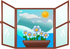 Winter window Stock Image