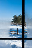 Winter window view Stock Photography