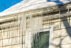 Winter is winter - but the spring is near. Icicles tell the truth. Royalty Free Stock Photography