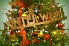 Winter Wish Christmas Tree Royalty Free Stock Photography