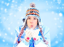 Winter woman Stock Photography