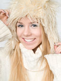 Winter woman. Mrs santa claus, christmas, holiday Stock Photos