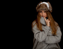 Winter woman Royalty Free Stock Image