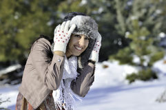 Winter woman Royalty Free Stock Photo