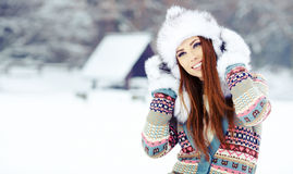 WInter woman Royalty Free Stock Photos