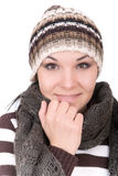 Winter woman Royalty Free Stock Images