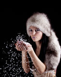Winter woman. Stock Photography