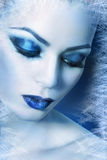Winter woman close up stock images