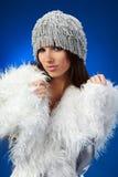 Winter woman, fantasy fashion Royalty Free Stock Photos